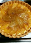 梨のキャラメルカスタードクリームタルト
