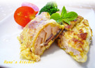 鮭のカレー風味バジルピカタ