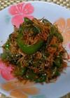万願寺唐辛子(しし唐)とジャコの炒め煮