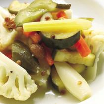 冷製 季節野菜の蒸し煮 コリアンダー風味
