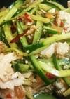 中華くらげと鶏肉の和え物