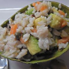 アボカドココットのライスサラダ