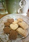 冷凍OK★きなことココアの米粉クッキー