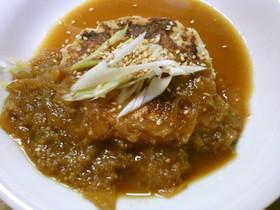 簡単!豆腐ハンバーグ 生姜にんにくソース