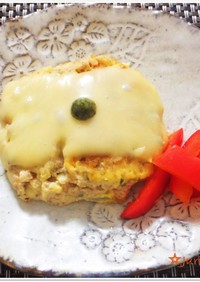 スパムと鶏のふんわり豆腐ハンバーグ♪