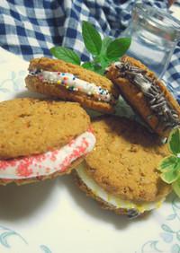S'moresマシュマロのクッキーサンド