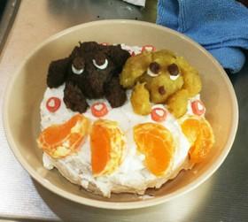 犬用ケーキのデコレーション
