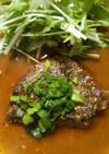 簡単 牛肉のステーキ!!中華風ソースで♪