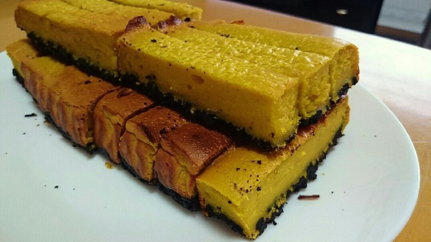 ハロウィン♡かぼちゃオレオチーズケーキ!