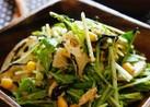 デリ風♪水菜とれんこんのごまダレサラダ