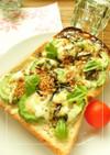 バジル香る❀うす塩ゴーヤの和トースト
