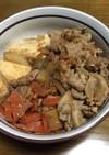 豚汁風のテキトー肉豆腐