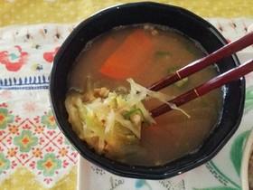ひきわり納豆のお味噌汁