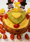 ★お祝いに★華やかオムライスケーキ