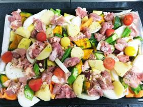 夏野菜のぎゅうぎゅう焼き