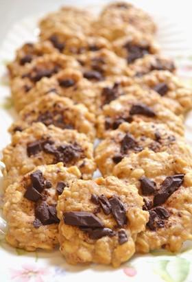 レンジで♪オートミールピーナッツクッキー