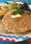 米粉と全粒粉のアーモンドミルクパンケーキ