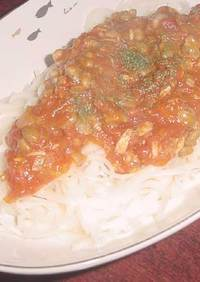 お肉なし!ヘルシー納豆トマトソースパスタ