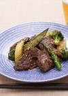 牛モモ肉とみどり野菜のうま味炒め