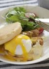 トーマチーズとごぼうのエッグベネディクト