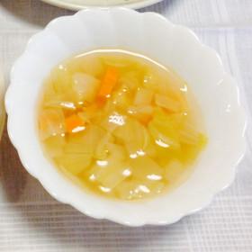 野菜とベーコンのコンソメスープ