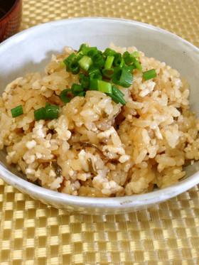 簡単!準備3分★塩昆布と鶏の炊き込みご飯
