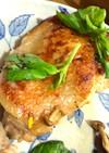 ★身から焼く★鶏胸肉の皮パリパリステーキ