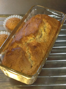 ジャムでマーブルパウンドケーキ
