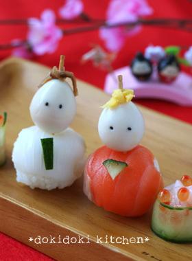 ひな祭りに♡手まり寿司のお雛様