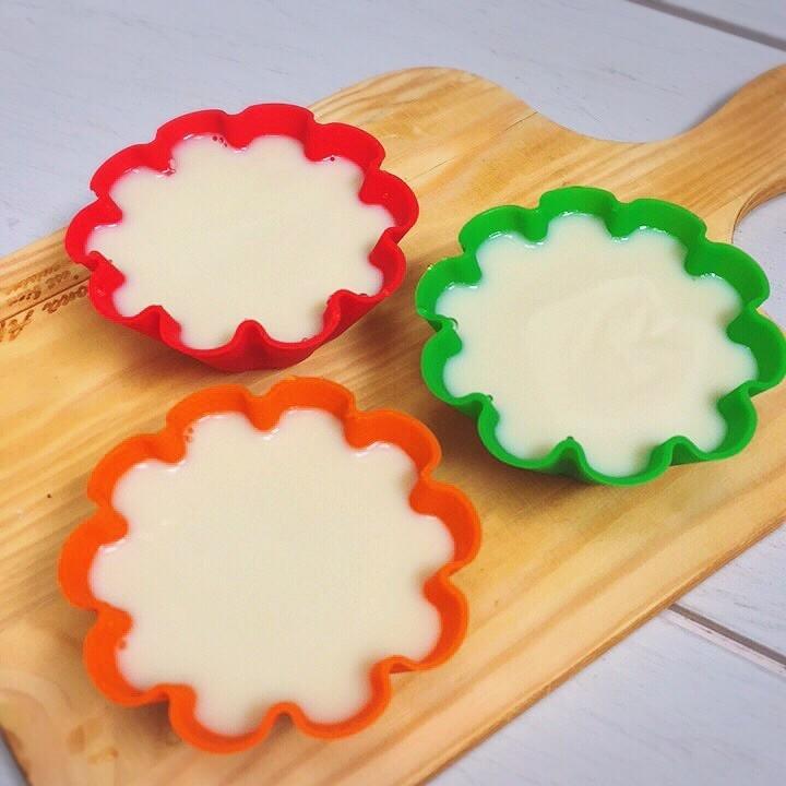 離乳食に✨簡単豆乳プリン