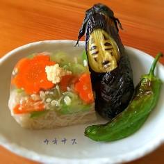 素麺の寒天寄せ☆カオナス添え