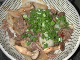 タマネギの牛味噌炒め