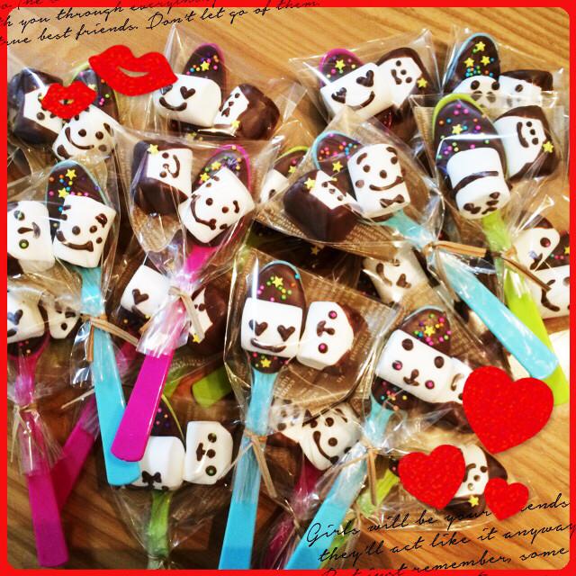 バレンタイン★スプーンチョコ&マシュマロ