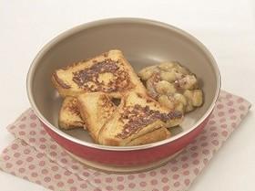 フレンチトースト 焼きバナナ添え