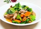 椎茸の旨味が光る☆チンゲン菜の炒め物