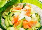 【茹キャベツとスモークサーモンのサラダ】