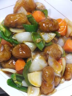 大豆たんぱくの酢豚☆甘酢タレに自信あり!