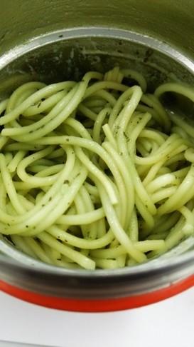 スープジャー茹でないジェノベーゼパスタ