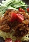 肉なしでんま!野菜みそダレの冷やし担々麺