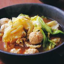キャベツのピリ辛キムチ鍋