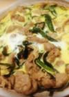 めんつゆをかけて食べる簡単豚ニラ玉♡