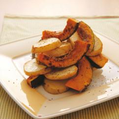 カボチャとジャガイモのこんがり焼き
