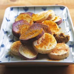 サツマイモと長イモの焼きサラダ