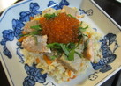 秋鮭といくらの寿司 炊飯器で簡単