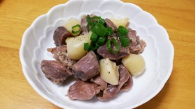 砂肝とニンニクの日本酒煮
