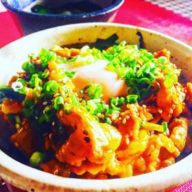 韓国風スタミナ豚丼