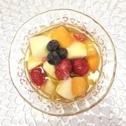 紅茶キノコ(コンブチャ)フルーツたっぷりの写真