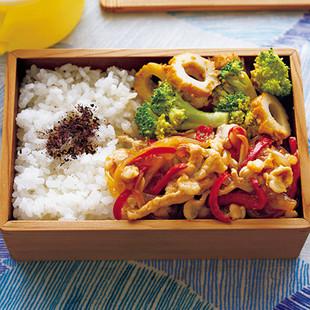 カラフル肉炒め弁当
