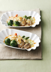 野菜のひき肉チーズグリル