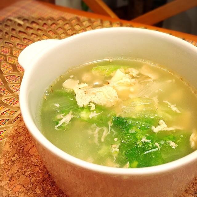 鶏 ガラ スープ 卵